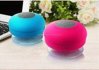 New mini Powered wireless Bluetooth Speaker Car Handsfree Subwoofer Speaker with Sucker Waterproof function for cellphone