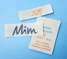 End Fold Silk Screen Printed 100% Cotton Care Labels