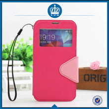 LZB Fashion color contrast series view window fancy back cover case for Samsung note i9220