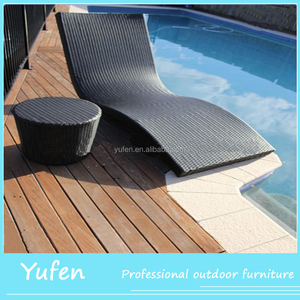 Hot Selling Outdoor Furniture Pool Lounger Mesh Fabric Chaise Sun Lounge