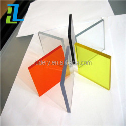 Professional clear color interior decoration acrylic plastic/pmma sheet
