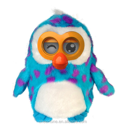 Battery operated talking hibou Soft plush electronic cartoon toy