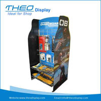 Mobile Double Sided Gridwall Floor Display Rack