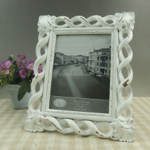 Tabletop decoration european white polyresin picture photo frame