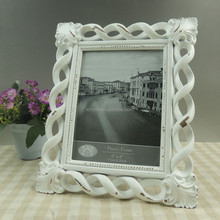 Tabletop decoration resin white vintage photo picture frame