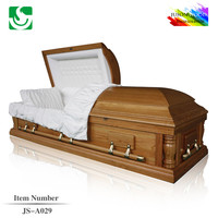 Funeral wooden JS-A029 colors of casket coffin