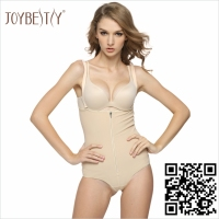 Waist Slimming Corset Panty Girdle with Zipper Opening Front
