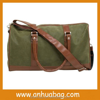 Super quality brown leather travel bag