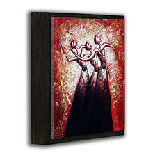 Modern sexy dancing woman painting for office shop decorative