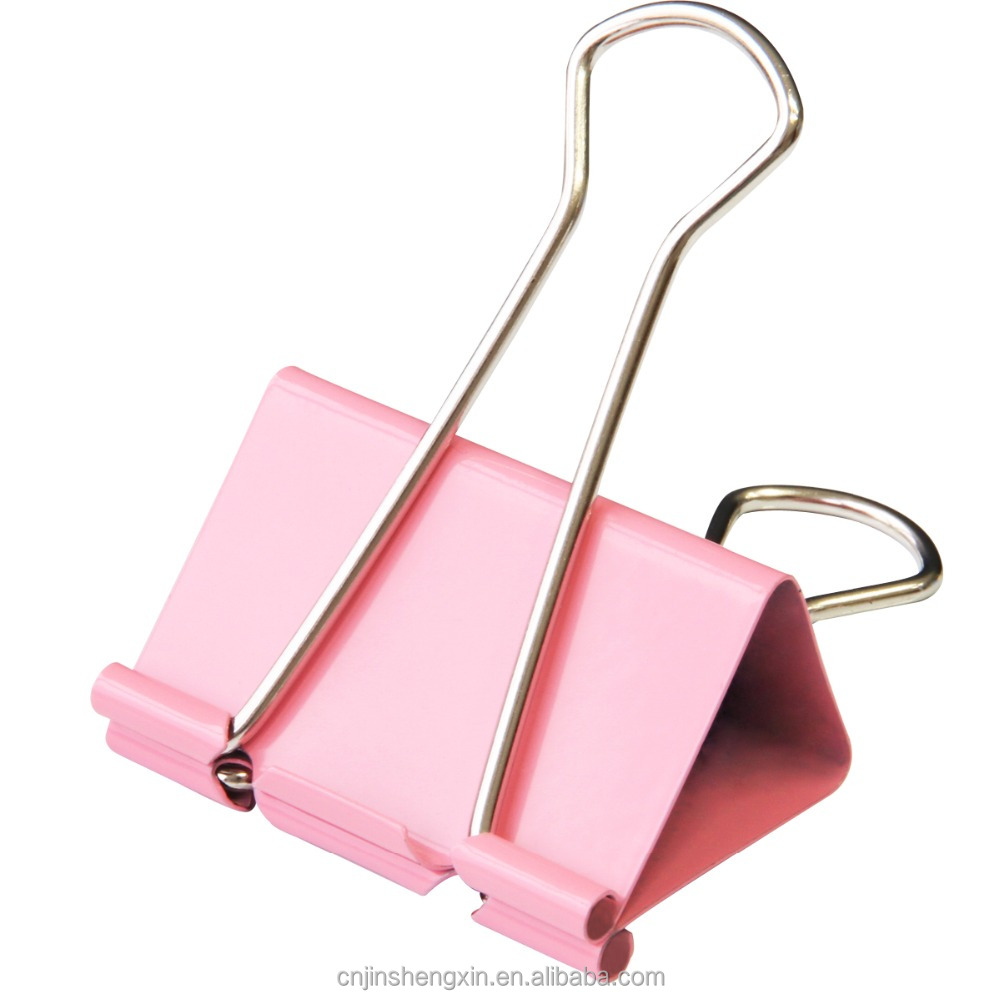 19mm metal Color binder file clip for dovetail shim purse Large Medium Small office stationery