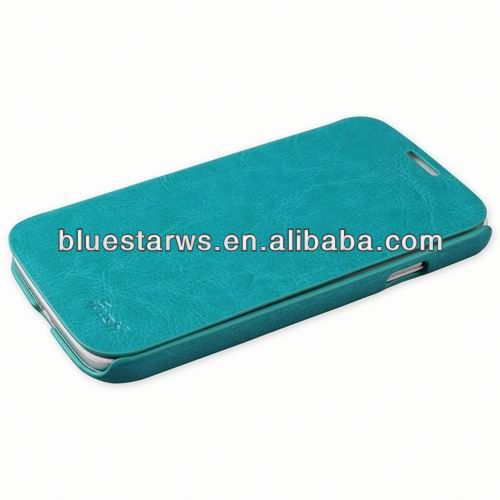 Hard Case Filp PU Leather back cover for samsung galaxy S4