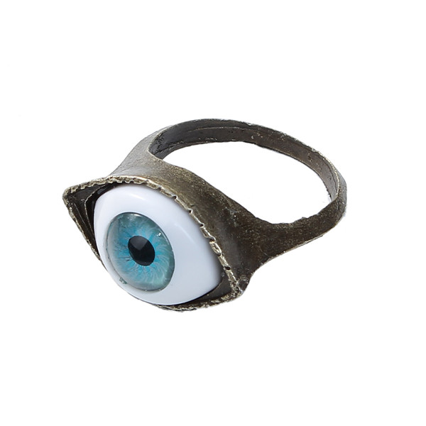 New Fashion Antique Bronze Blue Eye Rings