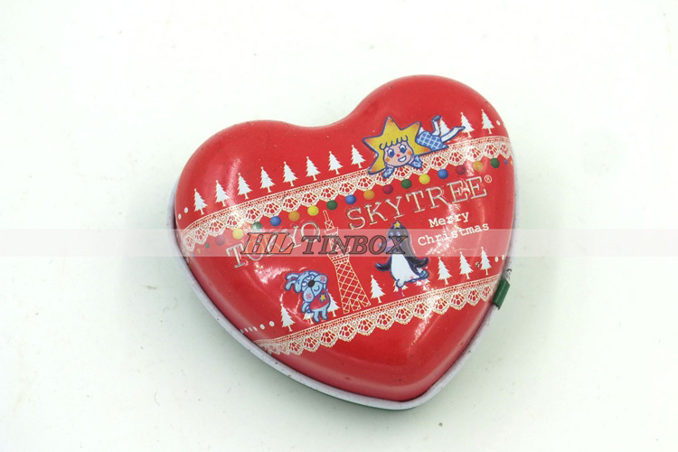 Wedding Gift Heart shape Small Candle Tins