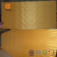 Eco Plastic Uptake 3D MDF Wall Panels Wave Board Attractively Interior Decoration