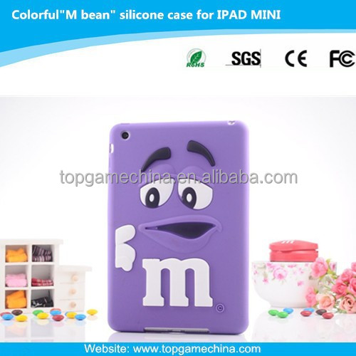 7.9 inch tablet silicone case for iPad mini rainbow bean funny case