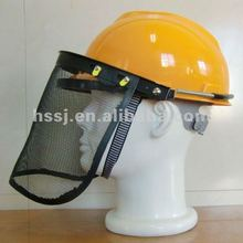 2016 hot selling safe ty helmet with face shield CE standard wire mesh protective plastic helmet safety face shield