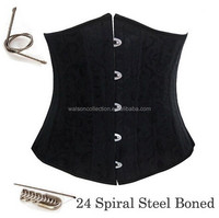 full 24 sprial steel boned corset plus size S-6XL waist training underbust corselet