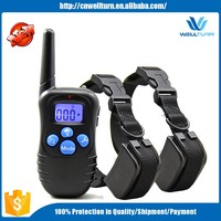 Best Electronic Private Label Pet Products Blue Button Rechargeable Remote Control Electronic Shock Dog Training Collar