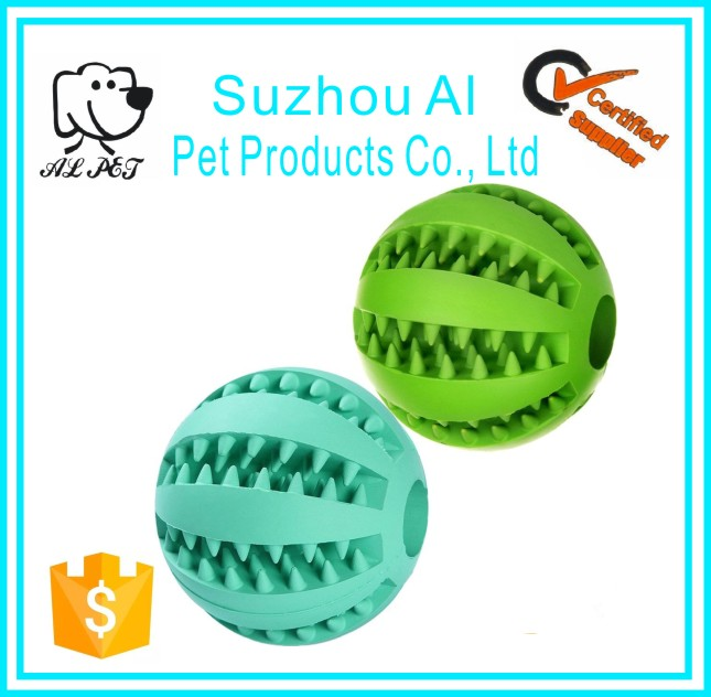 Pet IQ Training Playing Chewing Interactive Toy Bit Resistant Soft Rubber Dog Balls