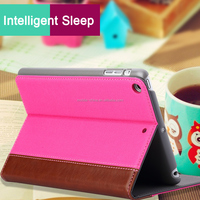 Popular fashion deign PU leather case for ipad air 2 with sleeping function