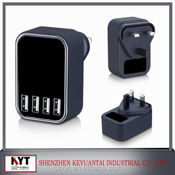 4USB KC approval wall charge smartphone charger mobile accessories for iphone