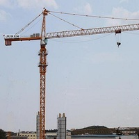 70m,75m jib length 16t big load and capacity strong tower crane