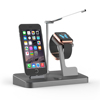MFi 48W Power Docking Station with Lamp for iPhone Aluminum material and Extra Dual USB Port