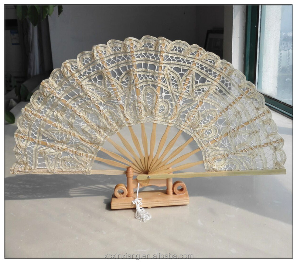customized gifts bamboo craft golden fan