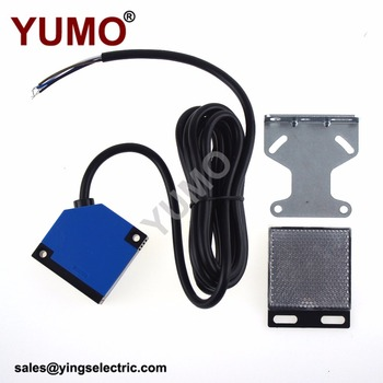 YUMO G50-3B4PC Detection Infrared Square Photoelectric Switch Sensor with Mirror