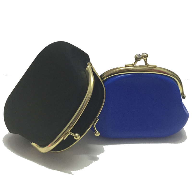 Womens/Ladies Soft Silicone Coin Purse With Metal Clasp
