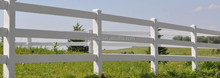 PVC cheap white used horse fence panels