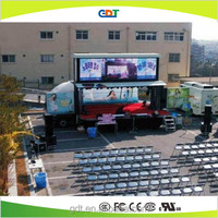 Outdoor P25mm led mobile stage truck for sale,mobile led display trailer