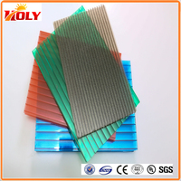 Lightweight 50 Micron UV Layer Colored 3mm Double Wall Polycarbonate Sheet