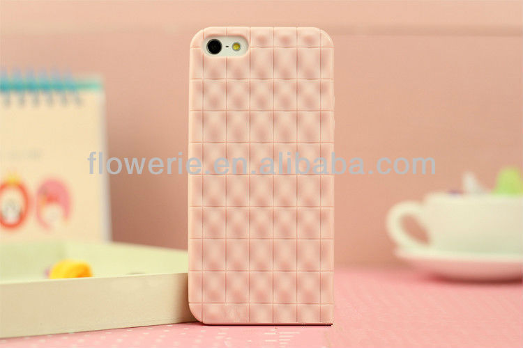 FL1524 2013 NEW Hot Sell Mobile Phone,Chocolate squares pattern TPU case For iphone 5 5G Case