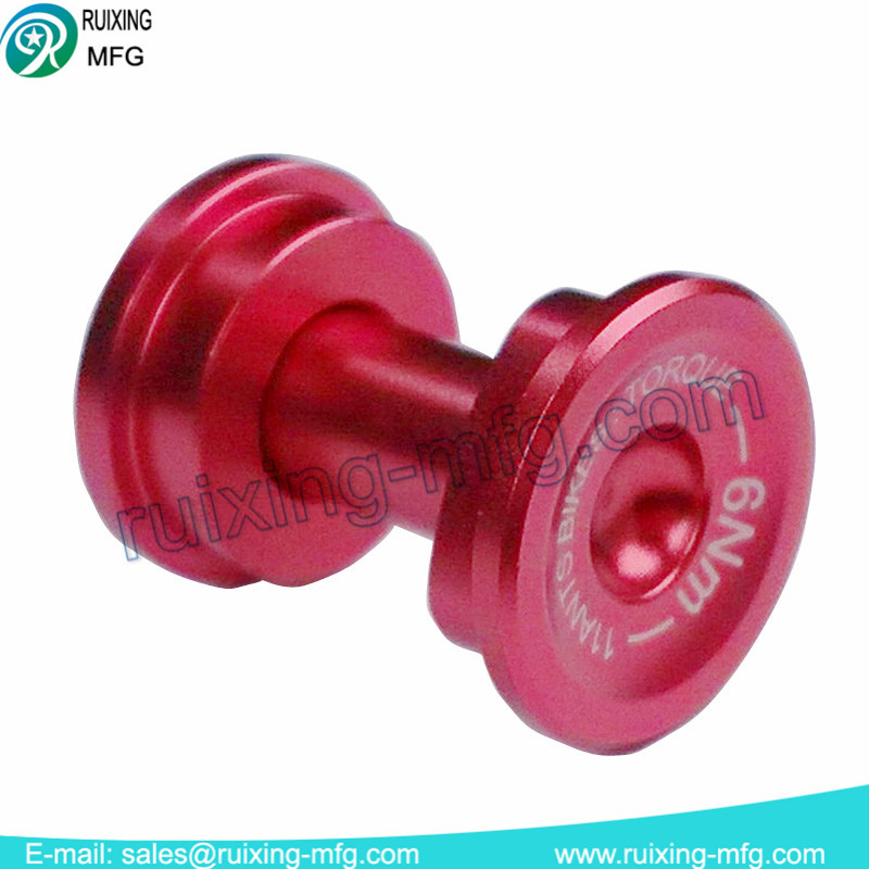 precision machining aluminum bolt and nut for bicycle parts