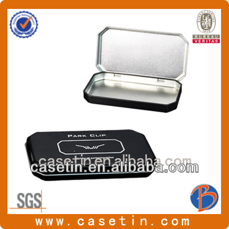 Top Sale High quality Namecard tin box with hinged lid
