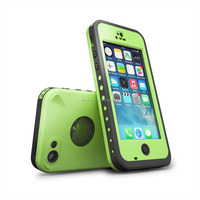 Waterproof case For Iphone 5C Shockproof Dirt Snow Proof Durable Case Cover Green
