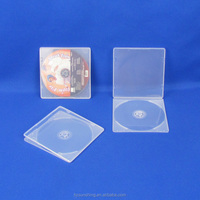 Factory Price dvd packaging case cheap 5mm Clear PP single cd case