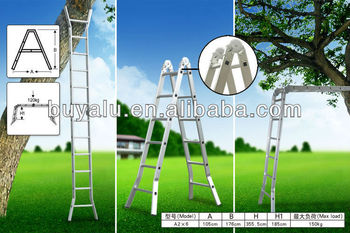 Aluminum multipurpose ladder