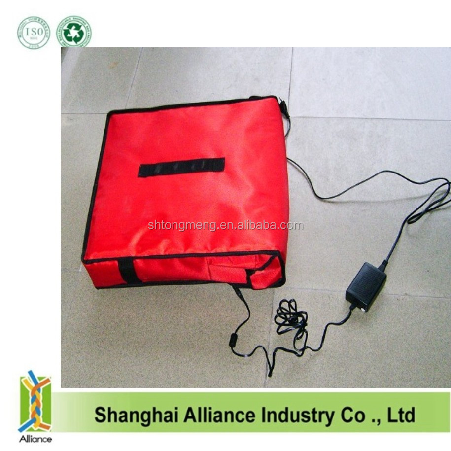2016 New style heating pizza delivery bag with 12V voltage