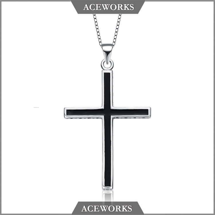 ACEWORKS 2017 hot selling 925 sterling silver crucifix and cross charm <strong>pendant</strong>