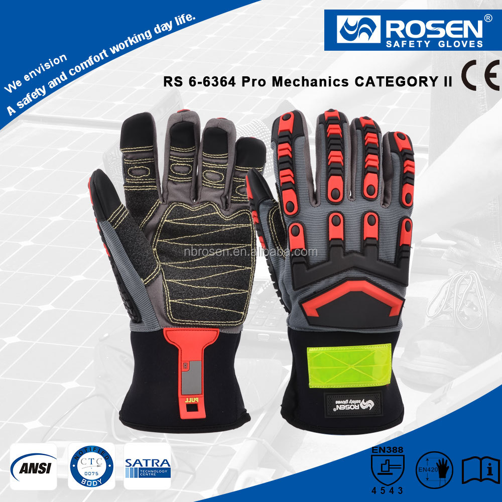 RS SAFETY Mechanic glove for work EN388 in Synthetic leather working glove