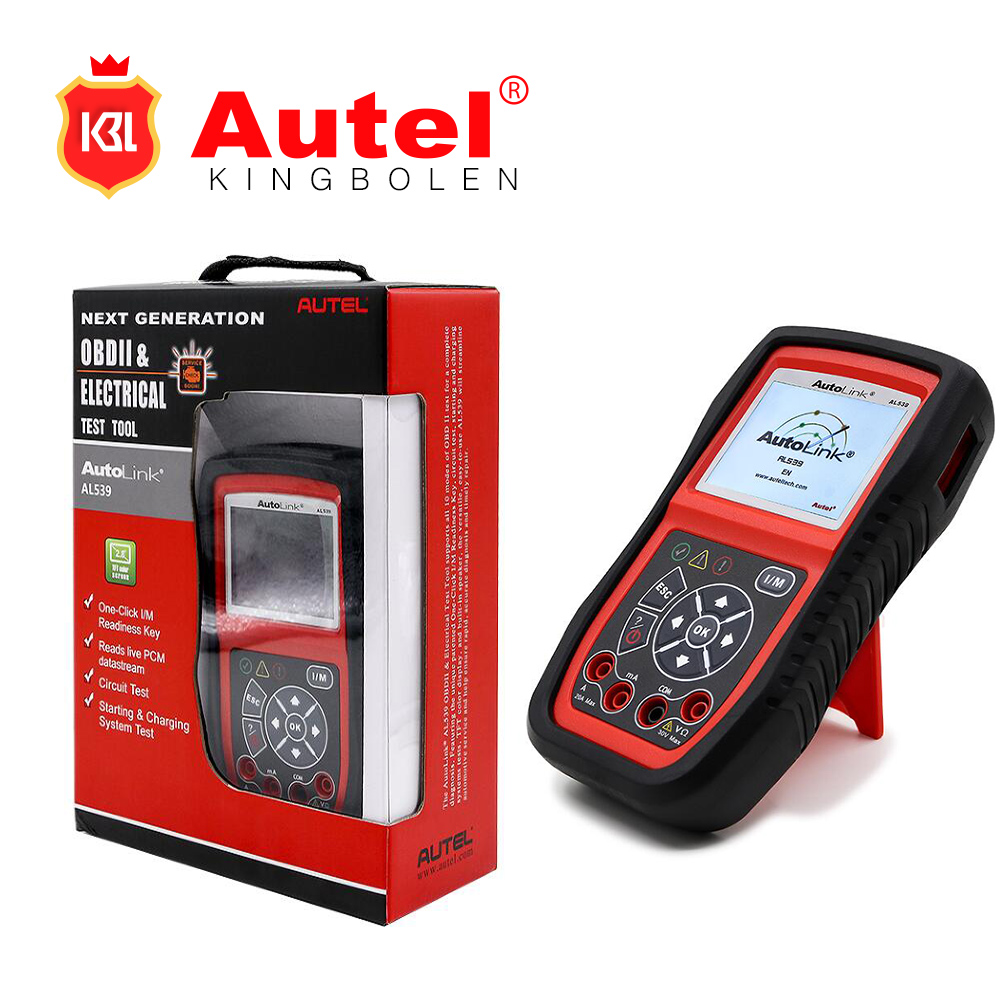 2017 Original Autel AutoLink AL539 OBDII/CAN SCAN TOOL with Starting and Charging System Test Function Auto Diagnostic Scanner