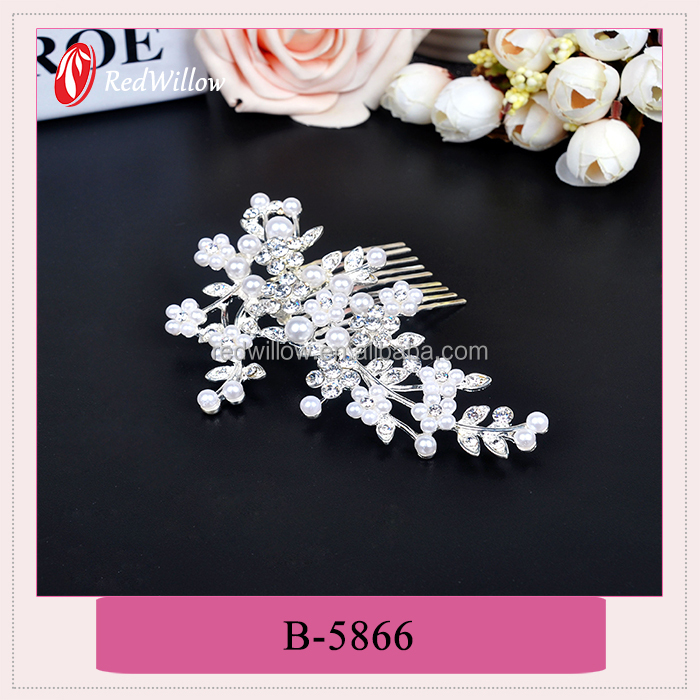 Wholesale low price high quality big crystal hair jewelry for wedding