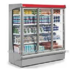 plug in low front multi deck,optional add glass door,supermarket refrigeration equipment