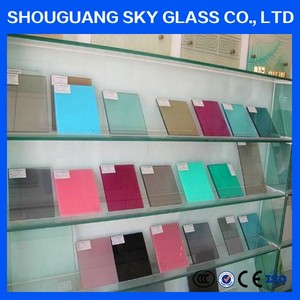 3mm-19mm thick China factory price colored / tinted glass price