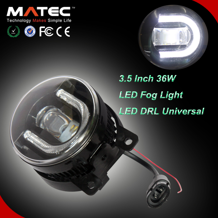 Popular 36w U Type LED DRL 3.5Inch Car LED Mazda 3 Fog Light Install