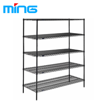 5 Tiers Metal Storage Chrome Wire Basket Rack Closet Heavy Duty Wire Shelving