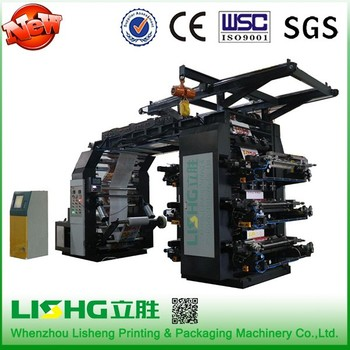 2/4/6/8 color paper/film/non woven flexographic printing machine