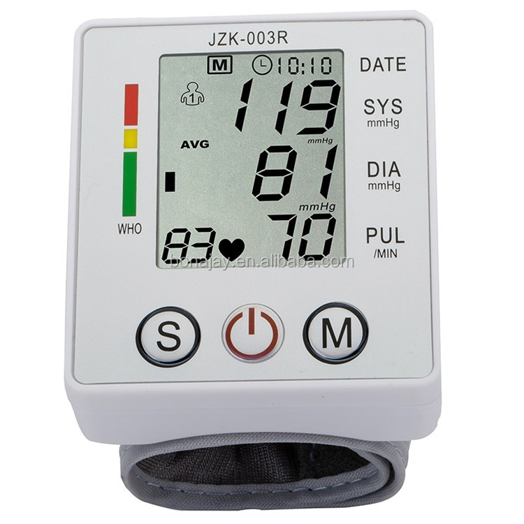 2018 Hot Touch Wrist Blood Pressure Monitor Watch Medical Arm Meter Pulse